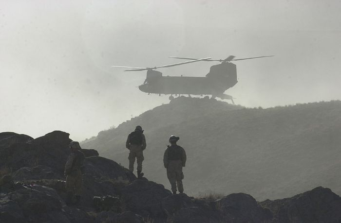 86-01649 operating in Afghanistan, circa 2002.