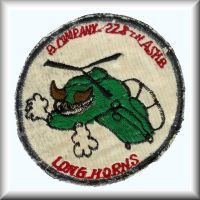 B Company, 228th ASHB patch from their days in the Republic of Vietnam.