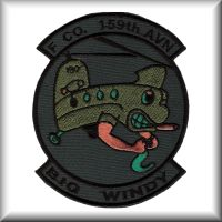 "Unit patch from F Company - ""Big Windy"", 159th Aviation Regiment."