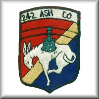 "A unit patch from the 242nd Aviation Company - ""Muleskinners"", from thier days in the Republic of Vietnam."