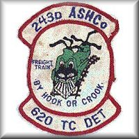 One of the 243rd ASHC unit patch's while they were deployed to the Republic of Vietnam.